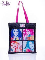 Czarna torba shopper bag dla dziewczynki DISNEY Violetta