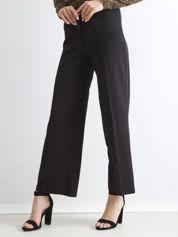 Czarne damskie szerokie spodnie