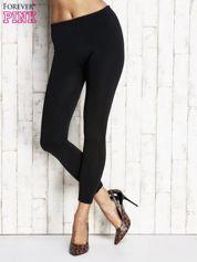 Czarne gładkie ocieplane legginsy