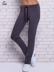 Czarne melanżowe spodnie dresowe z prostą nogawką