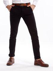 Czarne spodnie męskie slim fit