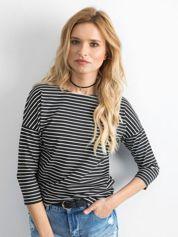 Czarno-biała bluzka damska w paski