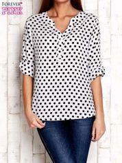Czarno-biała koszula w groszki