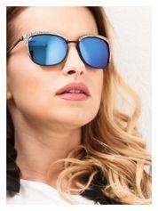 Czarno-złote klasyczne damskie okulary przeciwsłoneczne lustrzanki