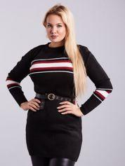 Czarny długi sweter PLUS SIZE