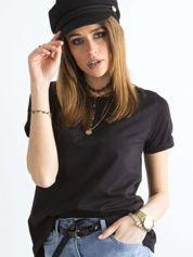 Czarny luźny t-shirt