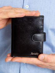 Czarny portfel męski ze skóry