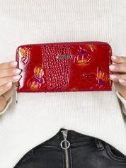 Czerwony damski portfel w motyle