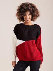 Czerwony sweter trzy kolory