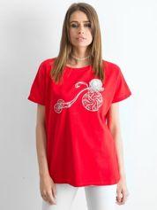 Czerwony t-shirt Ahead