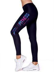 Długie legginsy na siłownię w sportowym stylu czarne