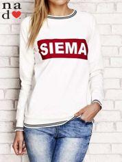 Ecru bluza z napisem SIEMA