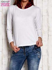 Ecru bluzka z koszulowym kołnierzykiem