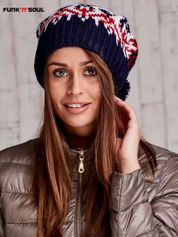 Ecru czapka w norweskie wzory FUNK N SOUL