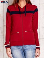 FILA Czerwona bluza z suwakami i troczkami