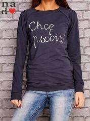 Grafitowa bluza z napisem CHCĘ PSOCIĆ