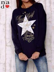 Granatowa bluza z motywem gwiazdek