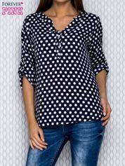 Granatowa koszula w groszki