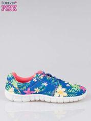 Granatowe buty sportowe textile Tropicana w exotic print na podeszwie flex