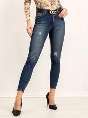 Granatowe jeansy Dear