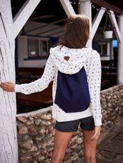Granatowy płócienny plecak worek