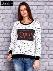 JUST LOU Ecru bluza z napisem URBAN NATURE