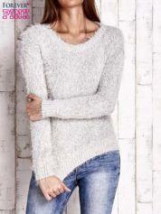 Jasnobeżowy sweter long hair