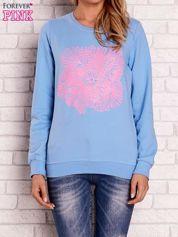 Jasnoniebieska bluza z kolorowym nadrukiem