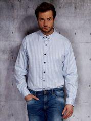 Jasnoniebieska koszula męska w delikatny wzór