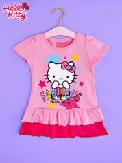 Jasnoróżowa tunika dla dziewczynki z motywem HELLO KITTY