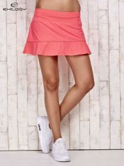 Jasnoróżowe spodenki spódniczka tenisowa z falbanką