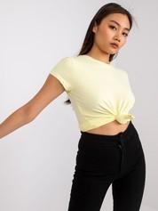 Jasnożółty t-shirt Peachy