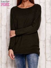 Khaki dzianinowy sweter