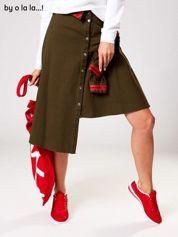 Khaki spódnica z guzikami i rękawami BY O LA LA