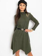 Khaki sukienka Una