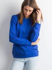 Kobaltowa bluza damska basic