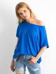 Kobaltowa bluzka Oversize