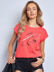 Koralowy t-shirt Bright