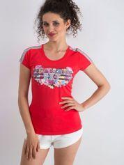 Koralowy t-shirt Valorous