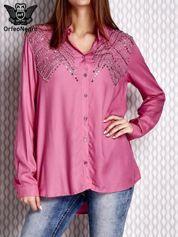 Koszula z aplikacją różowa
