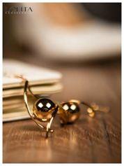 LOLITA Kolczyki FANTASY piękne złote kule