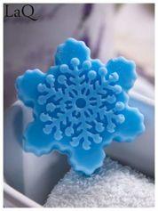 LaQ Mydełko Śnieżynka - niebieski / Zapach - wata cukrowa BEZ SLS i SLES