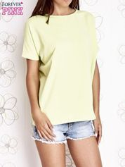 Limonkowy t-shirt oversize