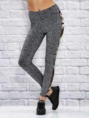 Melanżowe legginsy z moro modułami brzoskwiniowe