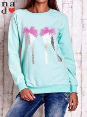 Miętowa bluza z nadrukiem szpilek