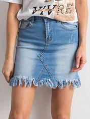 Niebieska damska spódnica z denimu