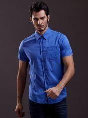 Niebieska gładka koszula męska Funk n Soul