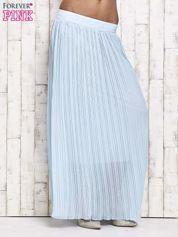 Niebieska spódnica maxi w plisy