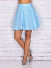 Niebieska tiulowa spódnica