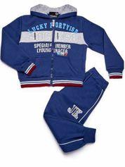 Niebieski komplet chłopięcy bluza i spodnie